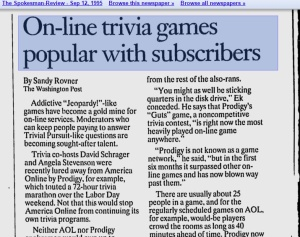 Only a screen shot of a digitized newspaper had relevant information!
