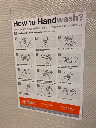 Orlando Marriott hand washing sign